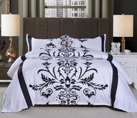 Black and White Bedding Set Couple Home textiles Soft Duvet ...