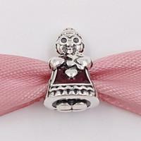 Autentyczne 925 Sterling Silver Beads Pani Christmas Charm Charms pasuje do European Pandora Styl Bransoletki Biżuteria Naszyjnik 792005EN07