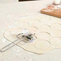 Высокое качество нержавеющей стали Тесто Пресс Клецки Maker Mold пирог Равиоли Кондитерские инструменты Круг Клецки Wraper Cutter делая машину