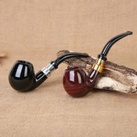 en bois fait main pipe à fumer avec un élément de filtre 9mm