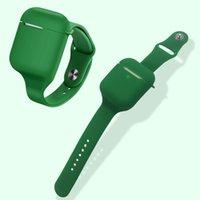 la caja del sostenedor suave de silicona líquida auricular para airpods 1/2 Anti-Perdida de muñeca banda de luz Peso lavables