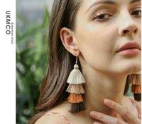 패션 긴 스타일의 tasseled 귀걸이 여성 롱 스타일의 다층 손으로 만든 귀걸이 보헤미안 tasseled 귀걸이 20쌍 / 많은 W859