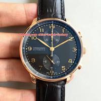 5 Estilo Venta Caliente Mejor Calidad ZF 41mm Portugués IW371402 IW371417 Cronógrafo de Trabajo CAL.79350 Movimiento Automático Reloj para Hombre Relojes