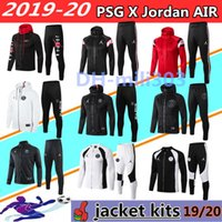 2019 2020 giacca felpa con cappuccio AIR JORDAN PSG Champions League Survetement 2019 20 AIR JORDAN PSG giacca da calcio MBAPPE air jordam soccer PANTALONCINO