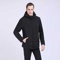 Erkek Aşağı Parkas Talifeck 2021 Erkek Giyim Moda Ceket Kaliteli Erkek Ceket Ince Rahat Katı Standı Yaka Uzun Kollu Şapka Ayrılabilir