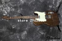 el envío libre de calidad superior clásico TL no eléctrica Guitarra SR-L01 aleación de acero Pastillas Bone tuerca de bronce ensilla más color puede elegir