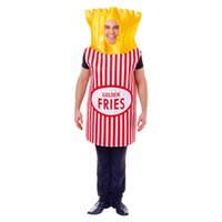 Funny Party Mens vestido Halloween Tema Costume francês Fries Pizza Cosplay