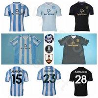 20-21 축구 레이싱 클럽 드 Avellaneda Jersey Dominguez 15 Lisandro Lopez 28 Federico Zaracho 10 Ricardo Centurion 축구 셔츠 키트