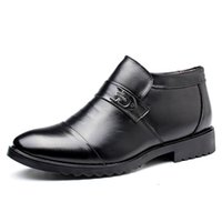 Chaussures en cuir véritable SNOW Homme Bottes Outdoor homme Bottes d'hiver imperméables Chaussures Chaussures chaudes Business Party Botas Hombre De VESTIR