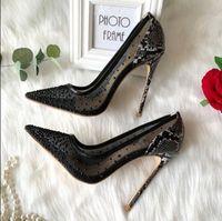 Бесплатная доставка женская мода насосы новый повседневная дизайнер Черный Кристалл сетки точка Toe высокие каблуки насосы обувь невесты свадьба 12 см 10 см 8 см