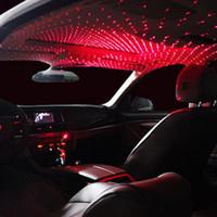 LED 자동차 루프 스타 야간 조명 장식 램프 별이 빛나는 하늘 인테리어 수정 자동차 빛 투영 분위기 USB 플러그인 사업가 외부