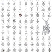 53 estilos Pearl Jaage Colgante Apertura Jaulas Locket Charm And 925 STR Silver Cadenas de serpientes Smooth Fashion DIY Montajes de joyería GB1640