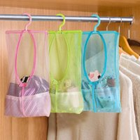 1pcs Multi- function Hanging Mesh Bags Clothes Organizer for ...