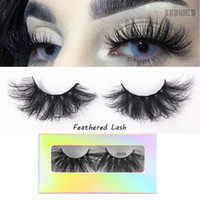 25MM lunghe ciglia Dramatic 3D visone capelli cigli falsi spessi Incrociato Wispies Fluffies Eye Lash Extension Tools trucco 1Pair