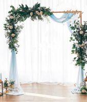 زفاف الدعائم المرحلة خلفية الإطار الحديد المطاوع الزخرفية زهرة الوقوف عيد ميلاد حفل زفاف الديكور الرقيق القوس