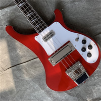 Nova Chegada Vermelho 4 Strings Rick 4003 Guitarra Elétrica, Baixo Guitarra, Guitarra Chinesa de Alta Qualidade Guitarra de Fábrica, Frete Grátis Elétrica Bass Guitars
