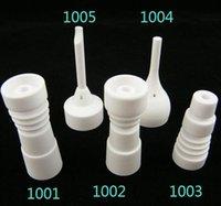 Auf Lager ! 14mm 18mm Keramik domeless Nägel mit männlich-weiblichen Glasverbindung Keramik carb Kappe VS GR2 Titan Nagel, schnelles Verschiffen