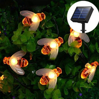 BRELONG bee light chain 20- 30 LED solar outdoor string light...
