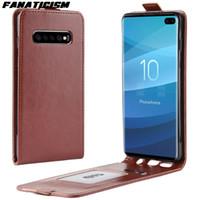 Up Down-Schlag-Leder-Kasten für iphone Samsung S20 Ultra-S10 S10e S9 S8 Hinweis 8 9 10 Plus Business Vertikal-Telefon-Abdeckung
