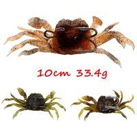 5pcs / lot 3 cores Crab Mixed Jigs Chumbo + PVC mole Iscas Lures 10cm 33,4 g Duplo Fishing Hooks FS_102