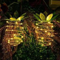 Giardino solare luci Ananas percorso solare Luce Hanging Decor esterna impermeabile natalizia Filo di ferro lampada da parete Art