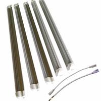재고 USA V 모양의 LED 튜브 라이트, 양면 V 자형 통합, AC100-277V, 투명 커버, 쿨 화이트 6000K, LED 쿨러 문 조명