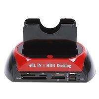 """연습장 2.5 """"/3.5""""SATA / IDE2 모든 -에 - 하나의 HDD가 역 E-SATA / 허브 외장형 스토리지 인클로저 부품 도킹 도킹"""