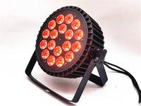 18x18W RGBWA UV 4IN1 5IN1 6in1 أدى غسل ضوء الاسمية الاسمية أدى LED شقة الاسمية يمكن الإضاءة لحزب KTV ديسكو DJ مصباح