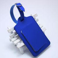 200шт 8 цветов искусственная кожа чемодан багажная бирка этикетка сумка подвеска сумочка портативные аксессуары для путешествий