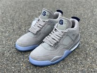 Limited PE 4s Georgetown Hoyas Grey White 4 Suede IV Men Bas...