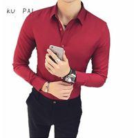 2017 Herbst Hemd der Männer Anzüge für Männer koreanischen dünnen Jugend fester Farbe Freizeitgeschäft langärmelige Männer Shirt