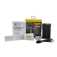 New Hot Authentic Nitecore I2 I4 I4 D2 D4 Universal IntelliCharger Display Carregador para 18650 18350 18500 14500 Li-on Bateria 100% Original