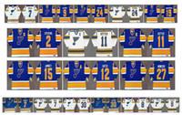 빈티지 세인트 루이스 블루스 저지 11 Brian Sutter 2 Scott Stevens 12 Adam Oates 27 Sergio Momesso 15 Craig Janney 9 Doug Gilmour Retro Hockey