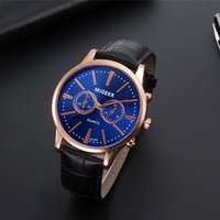 New Men Watches 2019 Hot Sale Retro Design Leather Band Anal...