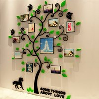 3 Size Colorful Picture Frame Tree 3D Acrylic Wall Sticker D...