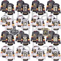 Vegas Golden Knights Jersey 29 Marc-Andre Fleury 61 Mark Ston 75 Ryan Reaves 71 William Karlsson 88 Nate Schmidt Hockey Jerseys