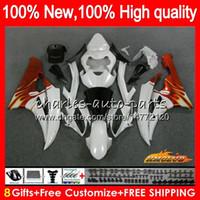 OEM тело для YAMAHA YZF R 6 YZF 600 YZF600 2006 2007 Рамки 61NO.39 YZF R6 YZF600 06-07 жемчужно-белого нового YZFR6 600cc YZFR6 06 07 обтекатель Kit