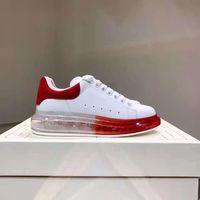 Haute Qualité Designer Chaussures Causal Chaussures Petit Trou Hommes Femmes Triple Rouge Blanc Lever Du Soleil Hommes Rouge Sport Sneakers Taille 35-46