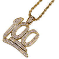 Gold Color Plated 100 Points Micro Pave Cubic Zircon Necklac...