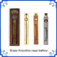 Messing-Knöchel-Vape-Batterie 650mAh 900mAh-variable Spannung für 510 Thraed dicke Ölpatronen E Cigs vs Cookies Cartoon Twist Batterien