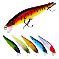 Novas 6 cores Plastic 6 # 3 Hooks Minnow Fishing Lure 10,5 centímetros 9,5g Big Deep Sea Baixo Crankbait Artificial Wobbler