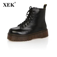 Fashion Women Boots Spring Autumn Motorcycle Ankle Platform ...