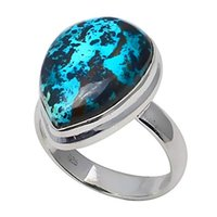 NiaoZaiFei YunZaiKan Genuine Copper Turquoise Ring 925 Sterl...