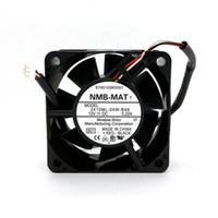 Оригинальный НМБ 2410ML-04W-B49 B01 60 * 60 * 25MM DC12V 0.22A 3LINES Сигнал тревоги двойной шариковый подшипник вентилятора охлаждения