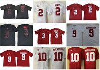 NCAA Alabama 13 Tua Tagovailoa Crimson Tide 2 fere o 3 Ridley 9 Scarbrou McCarron College Football Jersey Top Quality EM ESTOQUE frete grátis
