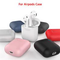 Pour AirPod 2 1 Ecouteur de luxe étui souple en silicone 7 couleurs Cover Designer Shell pour Apple Casque Accessoires