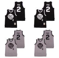 Top Qualität ! Moive Turnier schießen Out 2 PAC Trikots College Basketball Above The Rim Kostüm Doppel