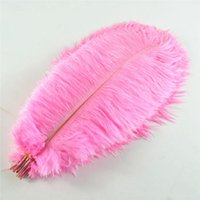 10-12 pollici piuma di struzzo vera piuma naturale per decorazioni per la casa decorazioni per matrimoni, confezione da 100 (rosa)