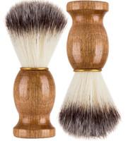 Süper Kuaför Salonlarında Tıraş Fırçası Siyah Sap Blaireau Yüz Sakal Temizleme Erkekler Tıraş Bıçağı Fırçası Temizleme Cihazı Araçları