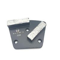 6 мм отверстие трапециевидный металл Алмаз бетон шлифовальная площадка скребок жесткий средний мягкий Бонд